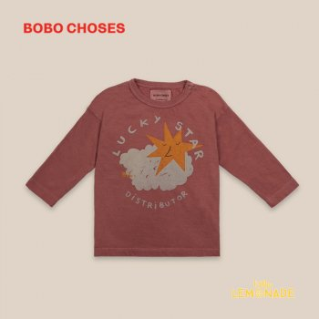 <img class='new_mark_img1' src='https://img.shop-pro.jp/img/new/icons1.gif' style='border:none;display:inline;margin:0px;padding:0px;width:auto;' /> 【BOBO CHOSES】 Lucky Star Long Sleeve T-Shirt 【12-18M/18-24M/24-36M】 長袖Tシャツ 子供服 22000002 ボボショーズ 20AW