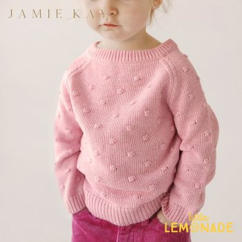 【Jamie Kay】 DOTTY KNIT- MARSHMELLOW MARLE 【4歳/5歳/6歳】 ピンク ドットニット セーター (JK20DOTTYMM)