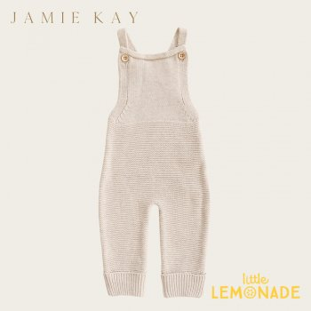 【Jamie Kay】 ALEX ROMPER- OATMEAL FLECK 【6-12歳/1歳/2歳/3歳】 ニット オーバーオール ジャンプスーツ (JK20ALEXROF)