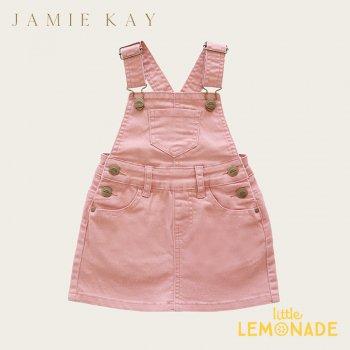 【Jamie Kay】 DENIM CHLOE OVERALL DRESS - ROSE【1歳/2歳/3歳】 ローズ ピンク ジャンパースカート (JK20CHLOE)