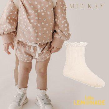 【Jamie Kay】 ERIN SOCK - MILK  【3-12か月/1-2歳/2-4歳/4-6歳】 靴下 子供ベビー用  フリル くるぶし丈 (JK20ERINS)