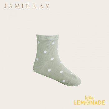【Jamie Kay】 DOTTY SOCK - HONEYDEW 【0-3か月/3-12か月/1-2歳/2-4歳/4-6歳】 靴下 子供ベビー用  ドット柄 グリーン(JK20DOTTYS)