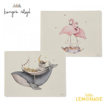 【Konges Sloejd】 シリコンプレイスマット フラミンゴ・クジラ SILICONE PLACE MAT - NATURE WHALE FLAMINGO  (KS1361)