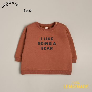 【organic zoo】 I Like Being a Bear スウェットシャツ トレーナー 6-12か月/1-2歳/2-3歳/3-4歳 トップス  (EBSLB) 20AW