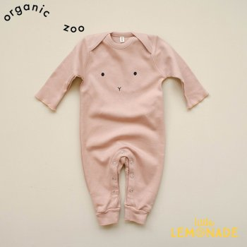<img class='new_mark_img1' src='https://img.shop-pro.jp/img/new/icons1.gif' style='border:none;display:inline;margin:0px;padding:0px;width:auto;' />【organic zoo】 Clay Bunny Playsuit  ブラッシュ カバーオール 【0-3か月/3-6か月/6-12か月】ボディースーツ ベビースーツ 長袖 (CPLBU) 20AW