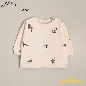 【organic zoo】 Olive Garden Sweatshirt オリーブ柄 スウェットシャツ トレーナー 3-6か月/6-12か月/1-2歳/2-3歳/3-4歳  (OBSOZ) 20AW