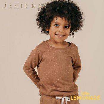 【Jamie Kay】 JOE TOP - TINY DOTS 【1歳/2歳/3歳】 トップス 長袖 シャツ ロンT ブラウン ショーツ 茶色 ドット ジェイミーケイ