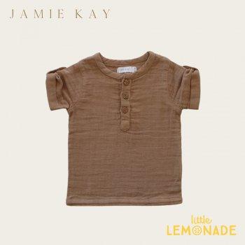 【Jamie Kay】 SAMMIE TOP - CAMEL 【1歳/2歳/3歳/4歳/5歳/6歳】 トップス 半袖 シャツ オーガニック キャメル ジェイミーケイ