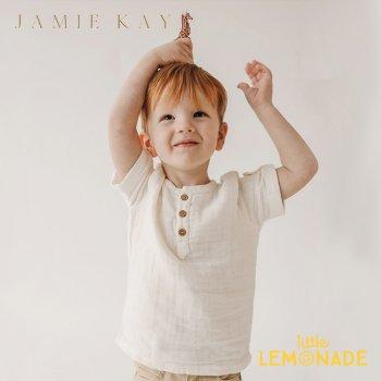 【Jamie Kay】 SAMMIE TOP - CLOUD 【1歳/2歳/3歳/4歳/5歳/6歳】 トップス 半袖 シャツ  ホワイト ジェイミーケイ