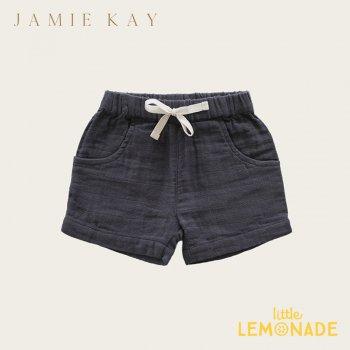 【Jamie Kay】  LILY SHORT - PEBBLE 【1歳/2歳/3歳/4歳/5歳/6歳】 ボトムス ネイビー ショートパンツ オーガニックコットン ムスリン