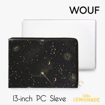 【WOUF】 13インチ PCケース 【Galaxy】 ギャラクシー ベルベット 星座 パソコン用スリーブ Macbook Pro 13inch  (SA200006)