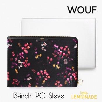 【WOUF】 13インチ PCケース 【Tulips】 チューリップ ベルベット パソコン用スリーブ Macbook Pro 13inch  (SA200007)