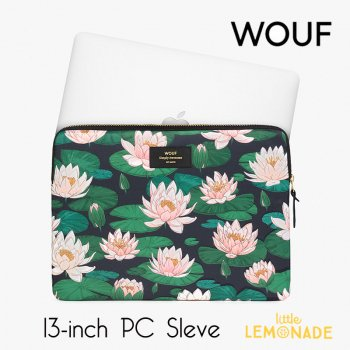 【WOUF】 13インチ PCケース 【Nenuphares】 睡蓮 パソコン用スリーブ Macbook Pro 13inch PC Sleeve  (S200012)