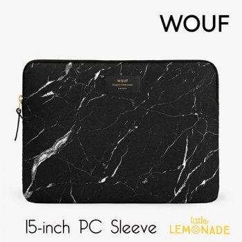 【WOUF】  15インチ PCケース 【Black Marble】 パソコン用スリーブ Macbook Pro 15/16 inch PC Sleeve  (SB160003)