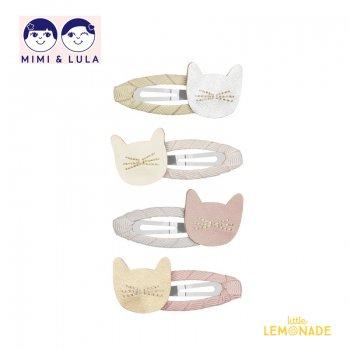 【Mimi&Lula ミミアンドルーラ】 CUTE CAT CLIP PACK/キュートキャットヘアクリップ4個セット ぱっちんどめ 女の子 20AW(602053 64)