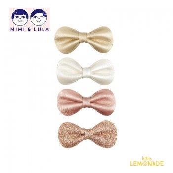 【Mimi&Lula ミミアンドルーラ】 SPARKLE GRACIE CLIPS/スパークグレースリボンヘアクリップ4個セット 女の子 20AW(602056 08)