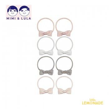 【Mimi&Lula ミミアンドルーラ】 MARTHA BOW PONIES/マーサーリボンヘアゴム8個セット ヘアアクセサリー 女の子 20AW(602061 04)