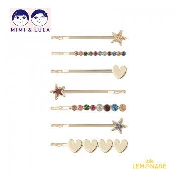 【Mimi&Lula ミミアンドルーラ】RAINBOW STARRY GRIPS/レインボースターヘアピン7個セット ヘアアクセサリー 女の子 20AW(602010 23)