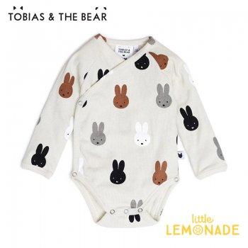 【Tobias & The Bear】 Miffy & Friends kimono bodysuit 長袖ボディ 【3-6/6-12/12-18か月】 ロンパース ミッフィー&フレンズ
