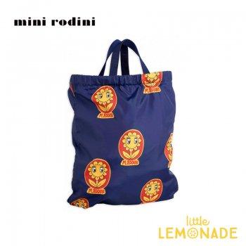 【Mini Rodini】 リュックにもなる MR FLOWERドローストリングバッグ/ネイビー  2wayジムバッグ  20AW (2076010867)