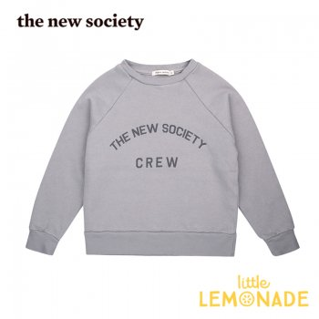 <img class='new_mark_img1' src='https://img.shop-pro.jp/img/new/icons1.gif' style='border:none;display:inline;margin:0px;padding:0px;width:auto;' />【The New Society】 The New Society Crew Sweater Soft Blue 【3歳/4歳/6歳】 スエットシャツ トレーナー 20AW