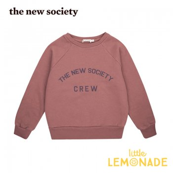 <img class='new_mark_img1' src='https://img.shop-pro.jp/img/new/icons1.gif' style='border:none;display:inline;margin:0px;padding:0px;width:auto;' />【The New Society】 The New Society Crew Sweater ROSE TAUPE  【3歳/4歳/6歳】 スエットシャツ トレーナー 20AW