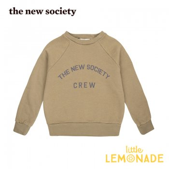 <img class='new_mark_img1' src='https://img.shop-pro.jp/img/new/icons1.gif' style='border:none;display:inline;margin:0px;padding:0px;width:auto;' />【The New Society】 The New Society Crew Sweater KAKHI  【3歳/4歳/6歳】 スエットシャツ トレーナー 20AW