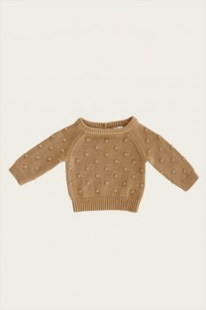 <img class='new_mark_img1' src='https://img.shop-pro.jp/img/new/icons1.gif' style='border:none;display:inline;margin:0px;padding:0px;width:auto;' />【Jamie Kay】 DOTTY KNIT - LATTE 【6-12か月/2歳/3歳/4歳】 ドットニット ラテ セーター トップス ジェイミーケイ