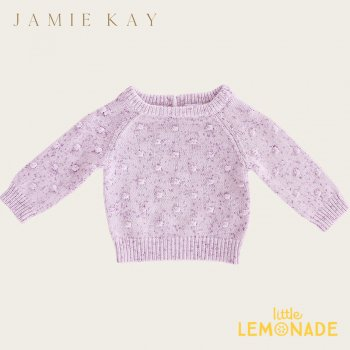 <img class='new_mark_img1' src='https://img.shop-pro.jp/img/new/icons1.gif' style='border:none;display:inline;margin:0px;padding:0px;width:auto;' />【Jamie Kay】 DOTTY KNIT - LILAC FLECK 【6-12か月/2歳/3歳/4歳】 ドットニット ライラック セーター トップス ジェイミーケイ