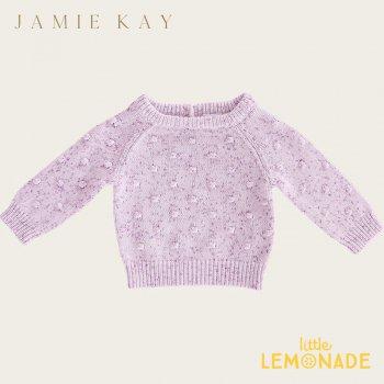 【Jamie Kay】 DOTTY KNIT - LILAC FLECK 【6-12か月/2歳/3歳/4歳】 ドットニット ライラック セーター トップス ジェイミーケイ