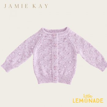 <img class='new_mark_img1' src='https://img.shop-pro.jp/img/new/icons1.gif' style='border:none;display:inline;margin:0px;padding:0px;width:auto;' />【Jamie Kay】DOTTY CARDI - LILAC FLECK 【6-12か月/1歳/2歳/3歳/4歳】 ドットニット ライラック カーディガン ジェイミーケイ