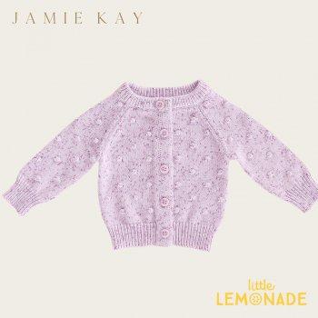 【Jamie Kay】DOTTY CARDI - LILAC FLECK 【6-12か月/1歳/2歳/3歳/4歳】 ドットニット ライラック カーディガン ジェイミーケイ