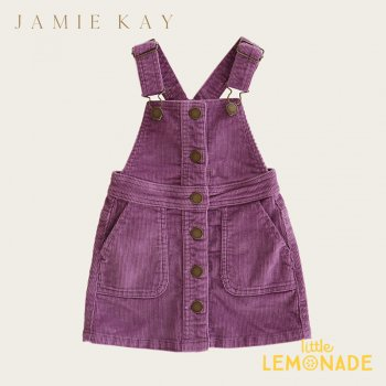 <img class='new_mark_img1' src='https://img.shop-pro.jp/img/new/icons1.gif' style='border:none;display:inline;margin:0px;padding:0px;width:auto;' />【Jamie Kay】GRACE DRESS - LAVENDER【1歳/2歳/3歳/4歳】 コーデュロイ スカート ジャンプスカート オーバーオール ジェイミーケイ