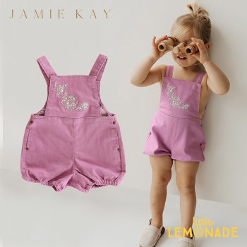 <img class='new_mark_img1' src='https://img.shop-pro.jp/img/new/icons1.gif' style='border:none;display:inline;margin:0px;padding:0px;width:auto;' />【Jamie Kay】CHARLOTTE PLAYSUIT - ORCHID 【6-12か月/1歳/2歳/3歳】 ピンク オーバーオール ロンパース デニム ジェイミーケイ
