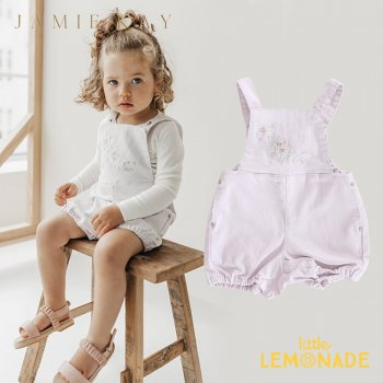 <img class='new_mark_img1' src='https://img.shop-pro.jp/img/new/icons1.gif' style='border:none;display:inline;margin:0px;padding:0px;width:auto;' />【Jamie Kay】CHARLOTTE PLAYSUIT - SOFT LILAC 【6-12か月/1歳/2歳/3歳】 ライラック   オーバーオール ロンパース デニム ジェイミーケイ