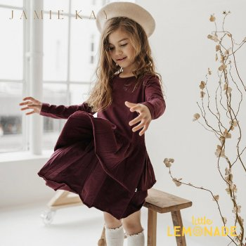 <img class='new_mark_img1' src='https://img.shop-pro.jp/img/new/icons1.gif' style='border:none;display:inline;margin:0px;padding:0px;width:auto;' />【Jamie Kay】 ECHO DRESS - PLUM  【1歳/2歳/3歳/4歳/5歳】 ワンピース 長袖 くすみカラー ジェイミーケイ