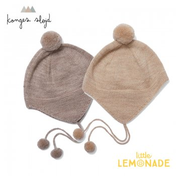 <img class='new_mark_img1' src='https://img.shop-pro.jp/img/new/icons1.gif' style='border:none;display:inline;margin:0px;padding:0px;width:auto;' />【Konges Sloejd】 TOMAMI KNIT HAT ポンポン付き ベビー帽子 【12-18か月】 ボンネット ニット帽 コンゲススロイド (KS1811)