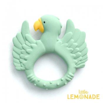【Natruba】 歯固め オウム Teether Parrot Light Green はがため ベビートイ 鳥 バード ギフト