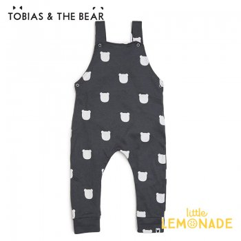 <img class='new_mark_img1' src='https://img.shop-pro.jp/img/new/icons1.gif' style='border:none;display:inline;margin:0px;padding:0px;width:auto;' />【Tobias & The Bear】 チャコールベアー サロペット 【3-6/6-12/12-18/18-24か月】 Charcoal Bear dungarees (CHBED)