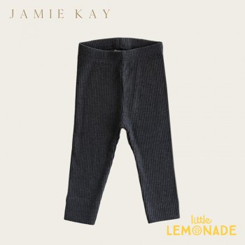 <img class='new_mark_img1' src='https://img.shop-pro.jp/img/new/icons1.gif' style='border:none;display:inline;margin:0px;padding:0px;width:auto;' />【Jamie Kay】 Organic Essential Leggings - DARK GREYMARLE 【6-12か月/1歳/2歳】 コットンレギンス パンツ