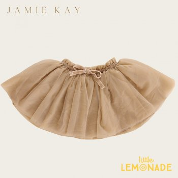 <img class='new_mark_img1' src='https://img.shop-pro.jp/img/new/icons1.gif' style='border:none;display:inline;margin:0px;padding:0px;width:auto;' />【Jamie Kay】 SOFT TULLE SKIRT - CHAMPAGNE 【1歳/2歳/3歳】 チュールスカート チュチュ バレリーナスカート ジェイミーケイ