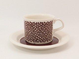 ファエンツァ(Faenza)ブラウン コーヒーカップ&ソーサー