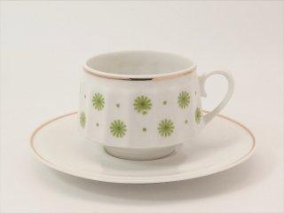 ロクサナ(Roksana) コーヒーカップ&ソーサー グリーン