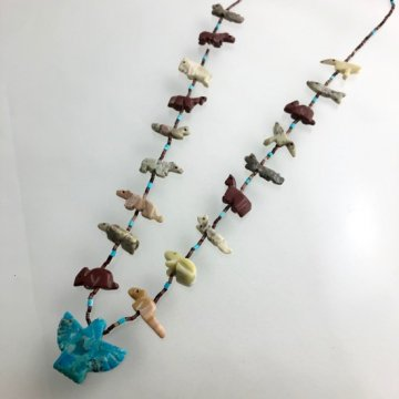 【67cm】ズニのお守り フェティッシュネックレス<br>ズニ族 フェティッシュ<br>