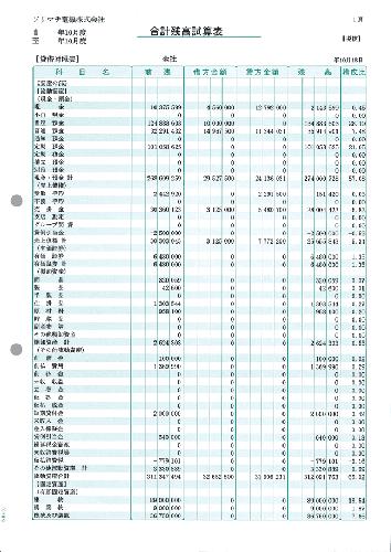ソリマチ SR4501 合計残高試算表 500枚 【送料無料】 会計王サプライ