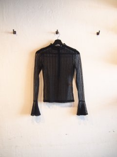 See-through race TOPS (BLK)