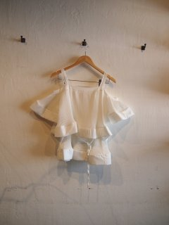 Open shoulder frill TOPS (WHT/PNK)