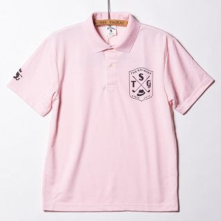 "4.1oz Dry Polo Shirts ""UP&DOWN"" BabyPink"