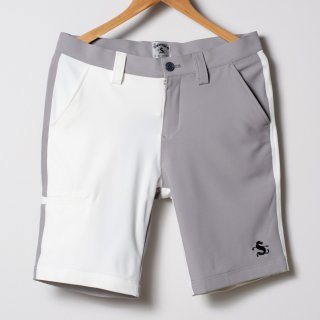 Flat Front Golf Shorts, 2-tone