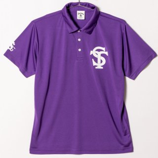 "Dry Silky Polo Shirts ""On the Screw"" Purple"